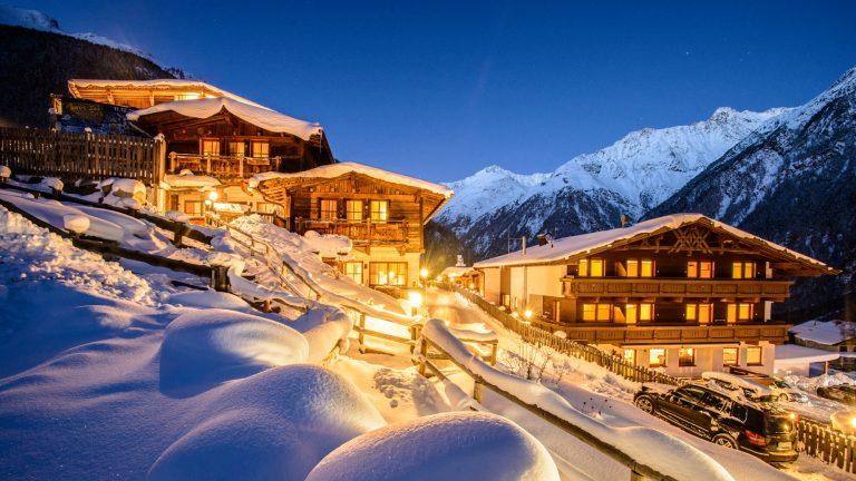 Австрия, Горы, Зельден, Горные лыжи